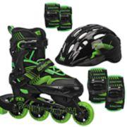Roller Derby Carver Boys Inline Roller Skates & Protective Pack