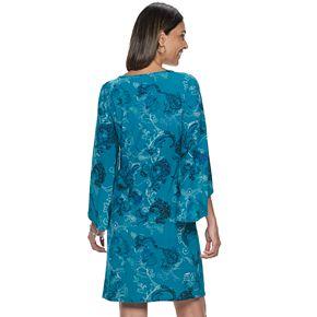 Women's Dana Buchman Print Kimono-Sleeve Dress