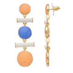 inspire NEW YORK Colorful Nickel Free Geometric Earrings
