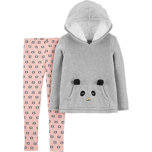 Girls 4-8 Carter's Panda Fleece Hoodie & Legging Set