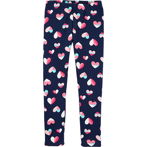Girls 4-12 Carter's Heart Cozy Fleece Leggings