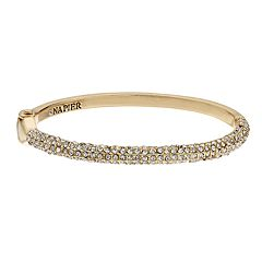 Napier Simulated Crystal Hinged Bangle Bracelet