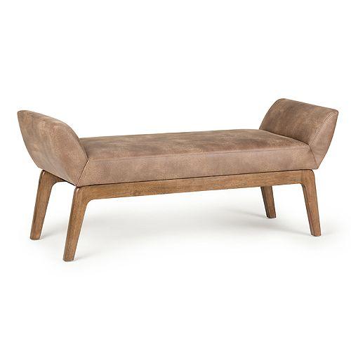 Simpli Home Sabrina Extra Wide Ottoman Bench
