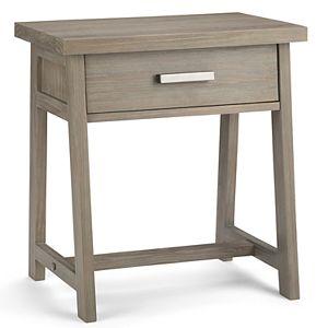 Simpli Home Sawhorse Bedside Table
