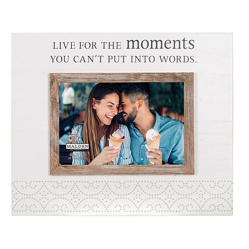 """Malden """"Live For The Moments"""" 4"""" x 6"""" Frame"""