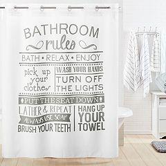 Hookless Bathroom Rule Shower Curtain & Liner