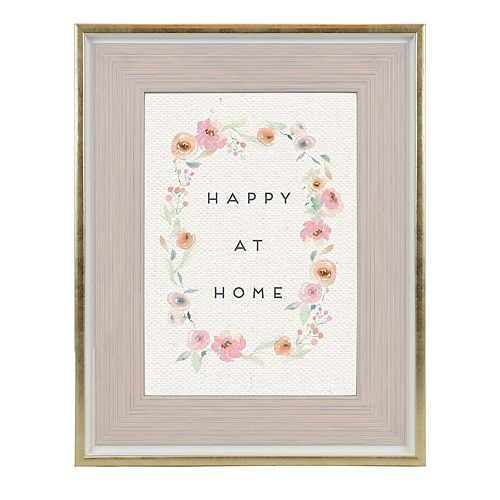 Belle Maison Pink and Gold Frame