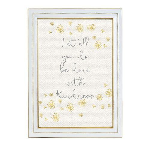 Belle Maison Enamel White and Gold Frame