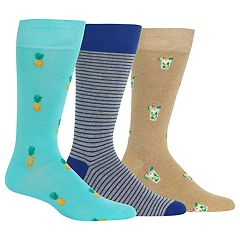 Men's Chaps 3-pack Fashion Crew Socks