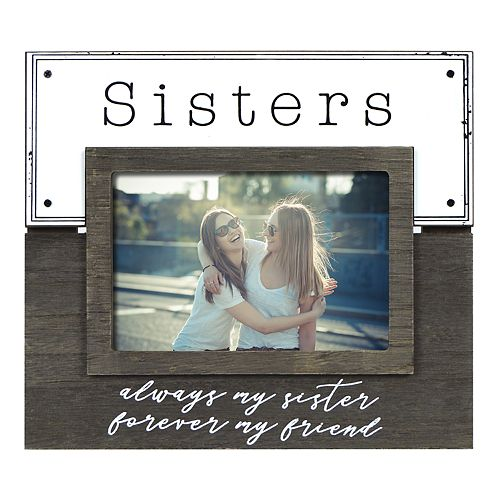 """New View """"Sisters"""" Enamel Plank Frame"""