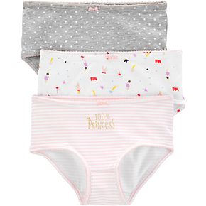 Girls 4-12 Carter's 3-Pack Stretch Cotton Undies