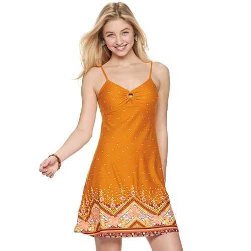 Juniors' Mudd® O-Ring Bodice Tank Dress