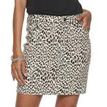 NEW! Juniors' Tinseltown Raw Hem Leopard Print Skirt