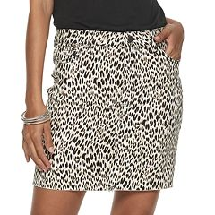 NEW! Juniors' Tinseltown Raw Hem Leopard Print Skirt