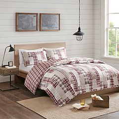 Madison Park Pine Reversible Printed Coverlet Set