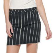 NEW! Juniors' Raw Hem Striped Skirt