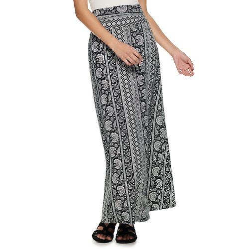 Juniors' Joe B Solid Knit Maxi Skirt