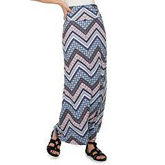 NEW! Juniors' Joe B Solid Knit Maxi Skirt