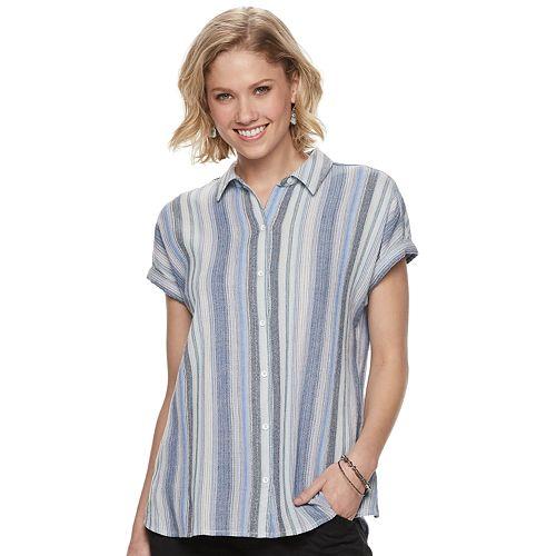 Petite SONOMA Goods for Life™ Dolman Camp Shirt