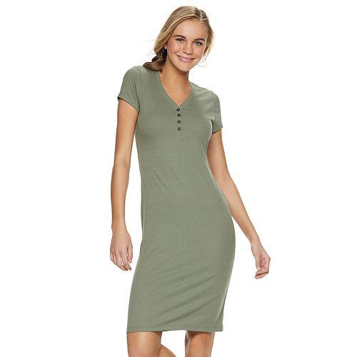 Juniors' SO® Henley Midi Dress