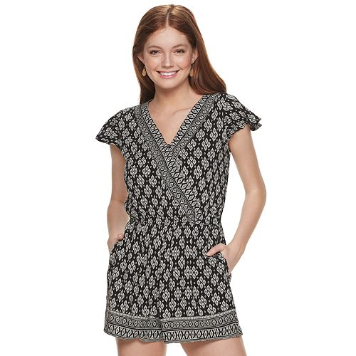 Juniors' Mudd® Surplice Romper