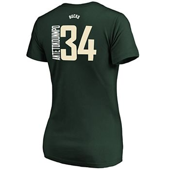 new concept 5ab65 75c82 Women's Milwaukee Bucks Giannis Antetokounmpo Player Tee