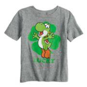 """Boys 4-12 Jumping Beans® Super Mario Bros. Yoshi """"Lucky"""" Graphic Tee"""
