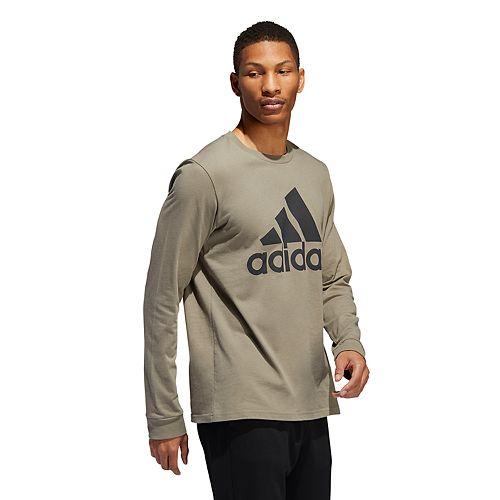 Men's adidas Long-Sleeve Logo Tee