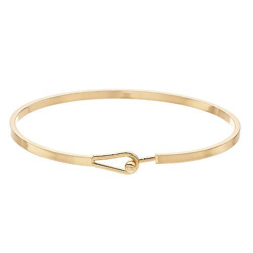 LC Lauren Conrad Gold Tone Hook Bangle Bracelet