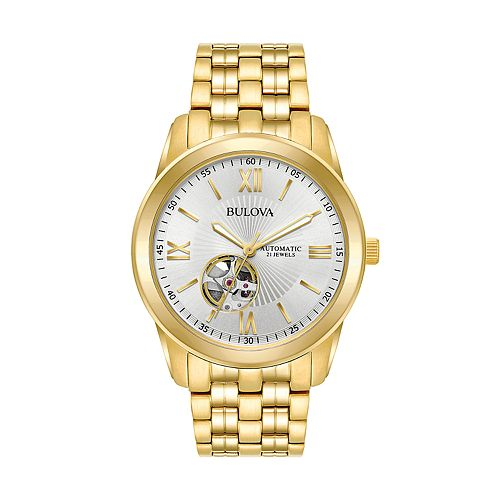 Bulova Men's Gold Tone Stainless Steel Automatic Watch - 97A130