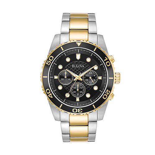 Bulova Men's Two-Tone Chronograph Watch - 98A171