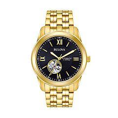 Bulova Men's Gold Tone Sterling Silver Automatic Watch - 97A132