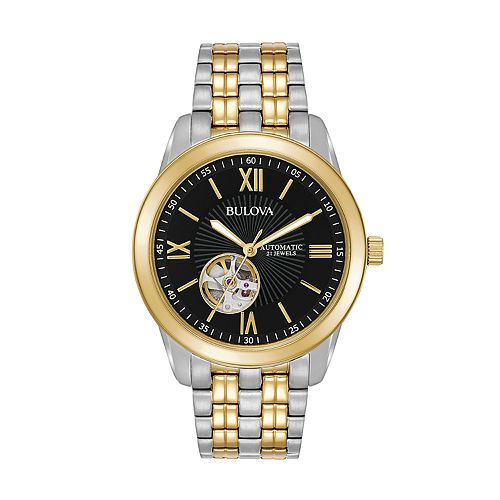 Bulova Men's Two Tone Stainless Steel Automatic Watch - 98A168