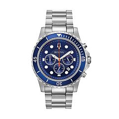Bulova Men's Stainless Steel Chronograph Watch - 98B325