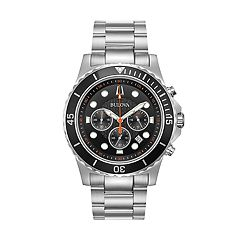 Bulova Men's Stainless Steel Chronograph Watch - 98B326