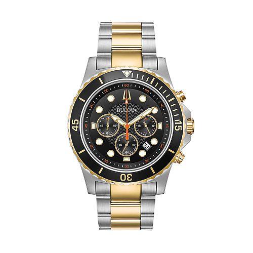 Bulova Men's Two Tone Chronograph Watch - 98B327