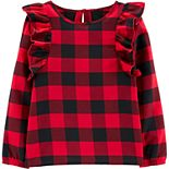 Girls 4-12 Carter's Buffalo Check Twill Top