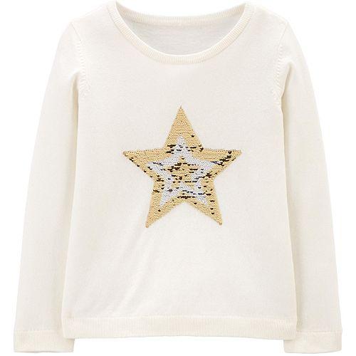 Girls 4-12 Carter's Flip-Sequin Star Sweatshirt