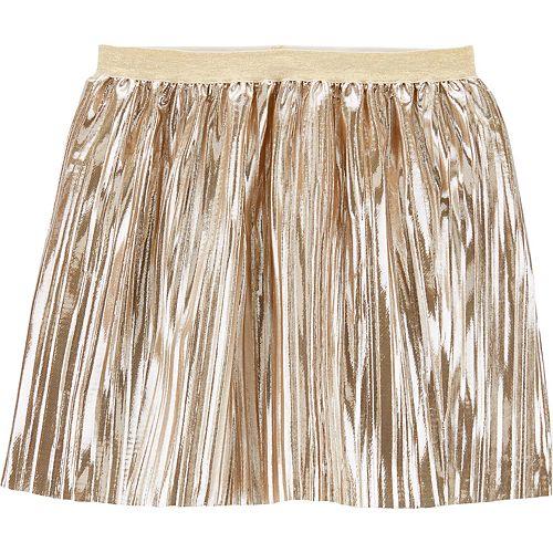 Girls 4-14 Carter's Metallic Pleated Skirt