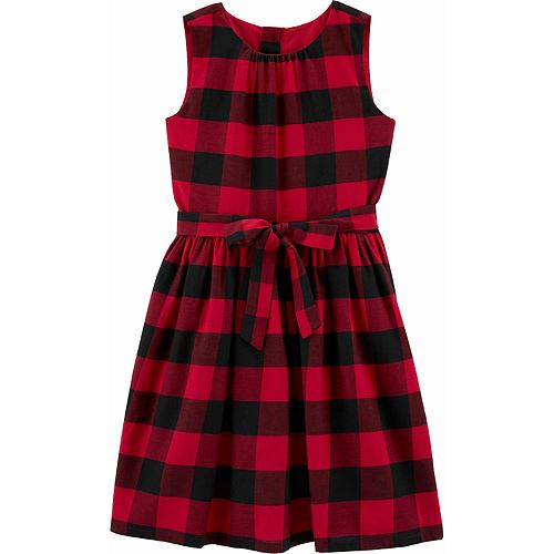 Girls 4-12 Carter's Buffalo Check Holiday Dress