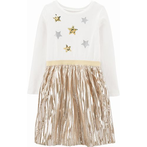 Girls 4-14 Carter's Star Holiday Skirt Dress