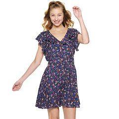 NEW! Juniors' American Rag Ruffled V-Neck Dress