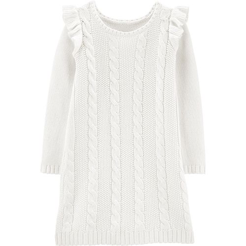 Girls 4-14 Carter's Cable Knit Sweater Dress