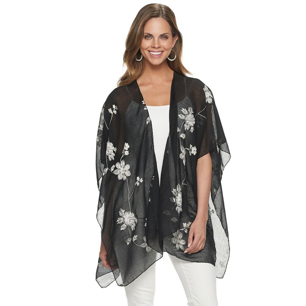 Women's Sonoma All Over Embroidered Floral Kimono