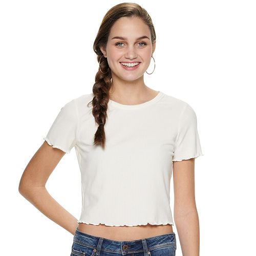 Juniors' American Rag Back Cutout Tee