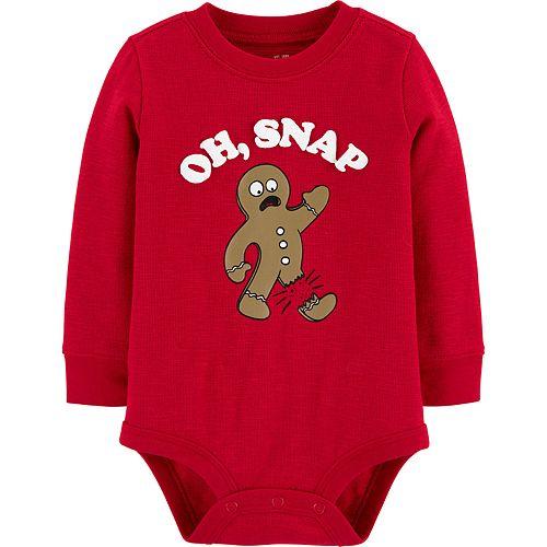 Toddler Boy OshKosh B'gosh® Gingerbread Thermal Bodysuit