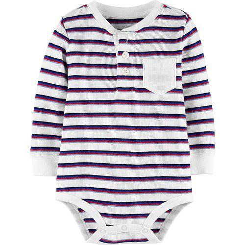 Baby Boy OshKosh B'gosh® Striped Thermal Bodysuit