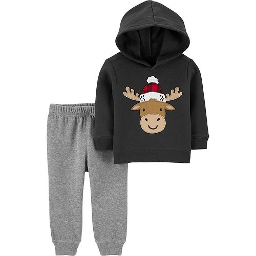Toddler Boy Carter's Reindeer Fleece Hoodie & Jogger Pants Set