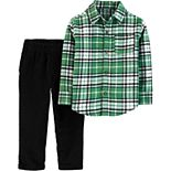 Toddler Boy Carter's Plaid Button-Front Shirt & Corduroy Pants Set