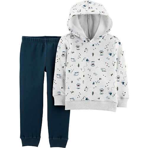 Toddler Boy Carter's Camping Fleece Pullover Hoodie & Jogger Pants